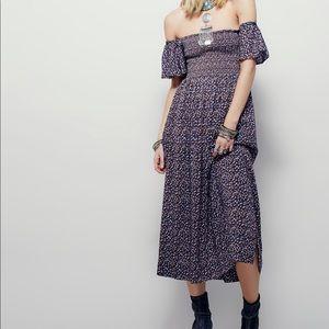 Free people printed midi dress